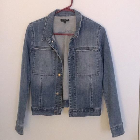 KENNETH COLE Unique Pocket Jean Jacket